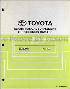 1994 Toyota T10service Shop Repair Set Oem 94 Service Repair Supplement And The Electrical Wiring Diagrams The Service Covers