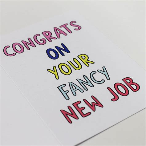 congrats on your fancy new card by dearly notonthehighstreet