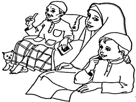 gambar anime muslim hitam putih lihat muslimah coloring pages printable muslim gambar
