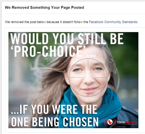 Pro Choice Meme - god or absurdity blog censored by facebook again anti pro choice meme removed and 7 day ban