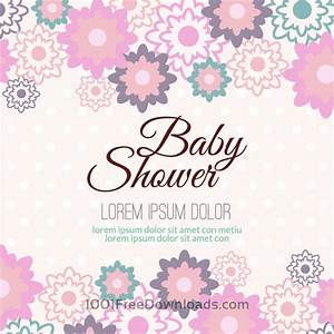 Baby Boy Card Design Free Vectors Baby Shower With Floral Background Backgrounds