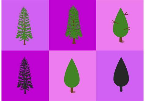 cedar tree vectors   vector art stock