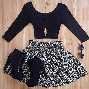 Skirt: clothes, crop tops, shoes, sunglasses, shirt ...