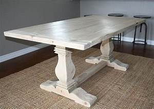 custom reclaimed wood trestle table by santini custom With custom barnwood dining table