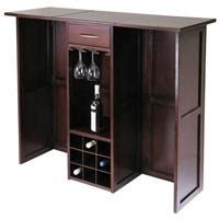 winsome yukon wine cabinet with expandable top espresso winsome regalia 20 bottle wine cabinet 151301 kitchen