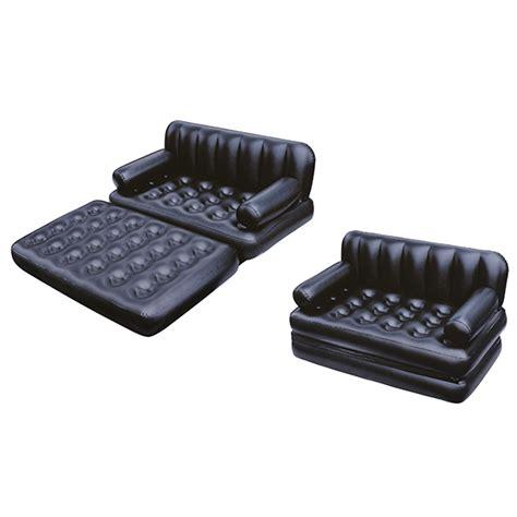 canapé gonflable extérieur canapé lit gonflable 3 en 1 noir pompe incluse maison