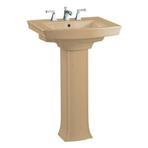 kohler archer pedestal combo bathroom sink in mexican sand