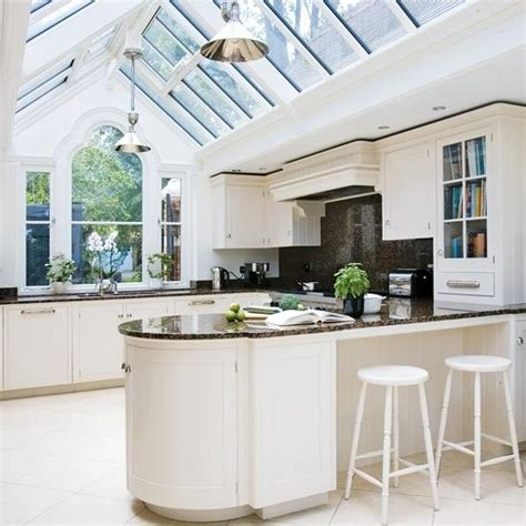 kitchen conservatory designs conservatory kitchen ideas care free sunrooms 3406