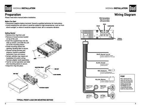preparation wiring diagram mxdm66 installation dual electronics mxdm66 user manual page 2 13
