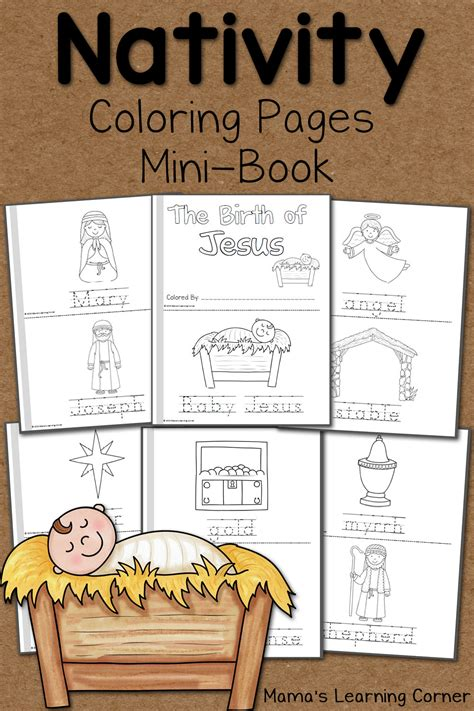 nativity coloring pages mamas learning corner 155 | Nativity Coloring Pages
