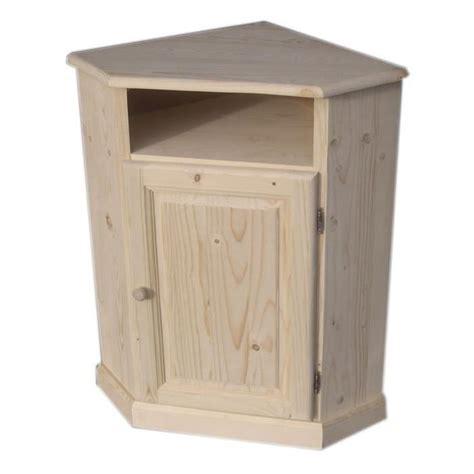 c discount cuisine meuble d 39 angle en bois brut achat vente petit meuble