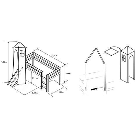 lit toboggan mezzanine pour enfant garon meuble de style