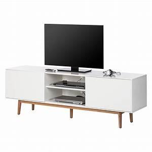 Lowboard Eiche Weiß : tv lowboard lindholm wei dekor eiche massiv moebel ~ Indierocktalk.com Haus und Dekorationen