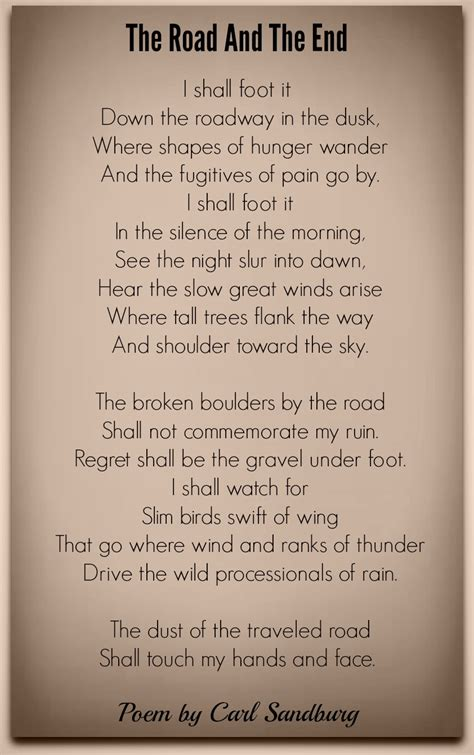 road    carl sandburg poetry
