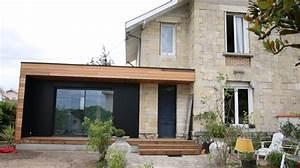 extension de maison bordeaux ossature bois red cedar With delightful maison bois toit plat 9 extensions nord maison bois nord