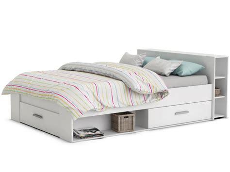 taille minimum chambre lit 2 tailles chêne brossé ou blanc leonis pratique