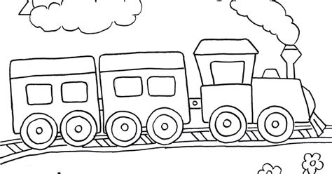 gambar mewarnai kereta api anak paud tk