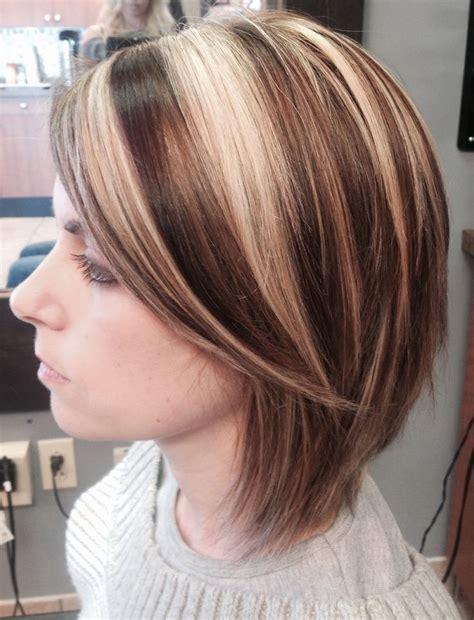 short hair bob haircut highlights lowlights bright blonde