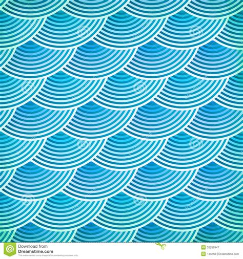 blue vector fish scales seamless pattern stock vector