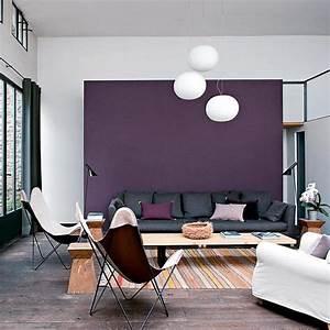 blanc bois gris violet maison idees deco salon With incroyable papier peint couleur taupe