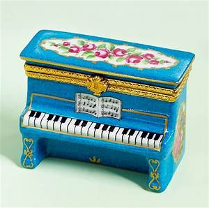 Limoges Louis XV Blue Upright Piano Box The Cottage Shop