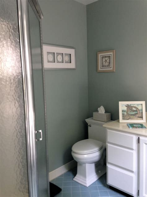Windowless Bathroom Paint Colors by Sherwin Williams Silvermist Maybe For A