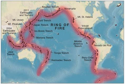 pacific ring  fire  map upsc ias