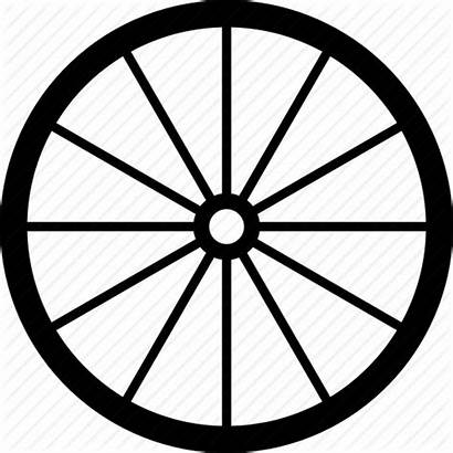 Wheel Wagon Wheels Vector Icon Bicycle Coach
