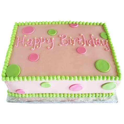 pink  green sheet cake archives  custom birthday