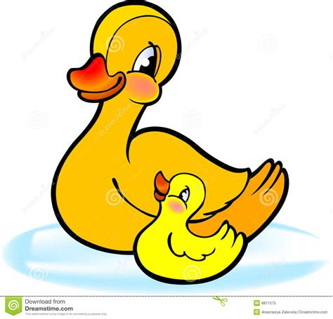 Mother With Baby Duckling Stock Vector Image Of Design
