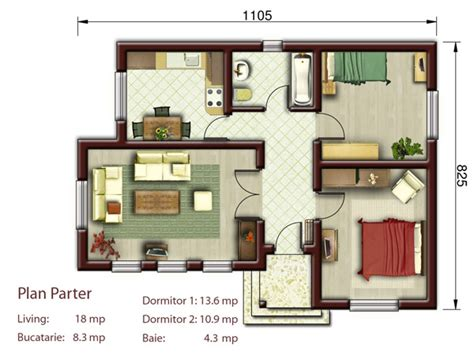 two bedroom cottage floor plans cottage style homes plans elegance resides in small spaces