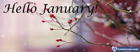 Hello January seasonal Facebook Cover Maker Fbcoverlover.com