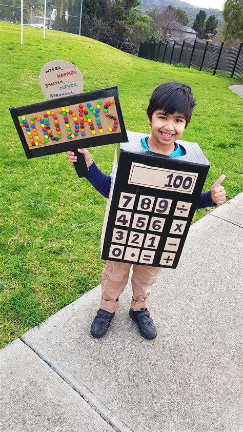 days school diy calculator costume homemade costumes