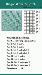 How To Knit The Diagonal Garter Stitch  Pattern Includes