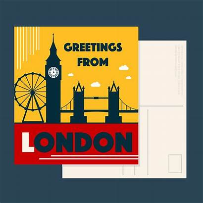 London Vector Postcard Landmark Clipart Vecteezy Vectors