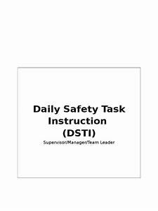 Daily Safety Task Instruction