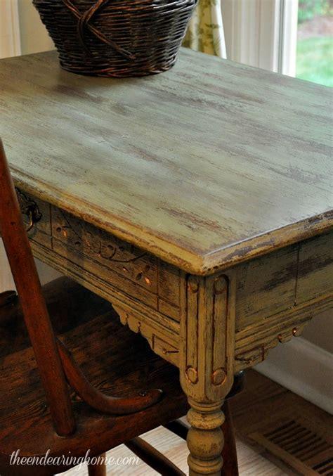 antique desk makeover with milk paint