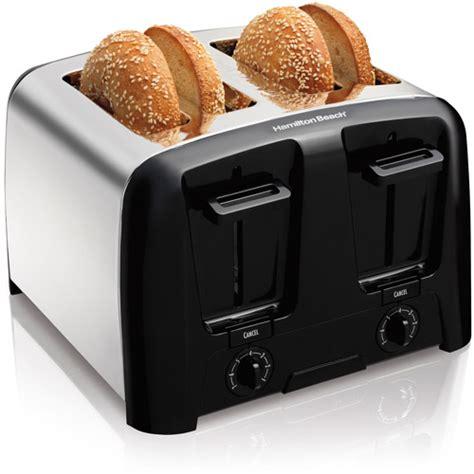 toasters at walmart hamilton cool wall 4 slice toaster model 24614z walmart