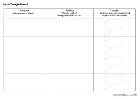 Cbt Automatic Thoughts Worksheet Worksheets For All  Download And Share Worksheets  Free On