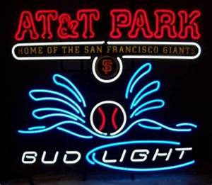 Bud Light AT&T Park Neon Sign