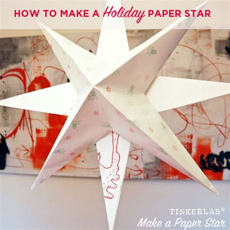 how to make hanging l with paper how to make a holiday paper star tinkerlab