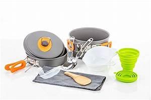 Camping Cookware Survival Mess Kit 13 Piece Cookware Set