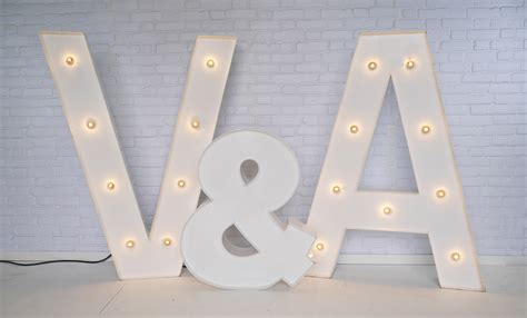 Large Light Up Letters by Large Light Up Marquee Letters For Hire Vowed Amazed