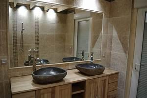 la salle de bain notre maison en bois With salle de bain galet et bois