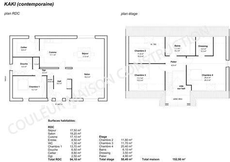 plan maison plain pied 6 chambres cool plan de maison couleur maison le plan de
