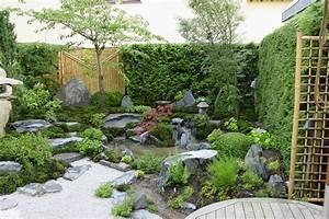 Kleiner Japanischer Garten : asiatischer garten modern wasserfall garten modern kunstrasen garten nowaday garden ~ Markanthonyermac.com Haus und Dekorationen