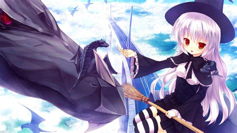 Anime Girl Witch Wallpaper Quidsup Anime Witch 03 Jpg