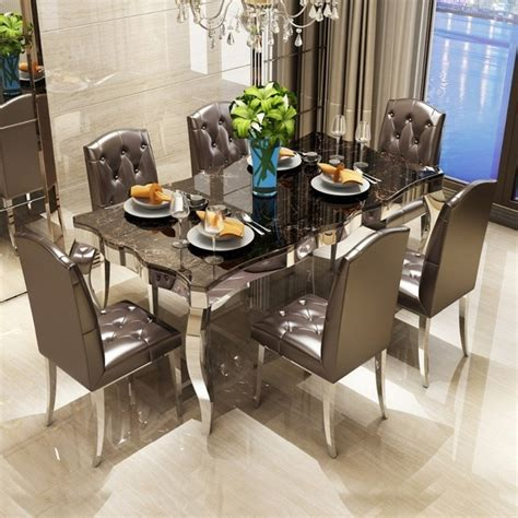 rama dymasty stainless steel dining room set home