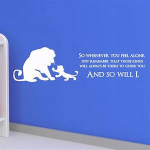 lion king quote disney children kids wall sticker With inspirational disney sayings wall decals