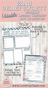 february newsletter template january 2018 relief society newsletter and lesson calendar